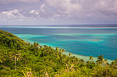 Overlook over the lagoon of Wallis, Wallis and Futuna, South Pacific, Pacific