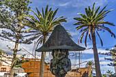 Enano de la Virgen sculpture and Naval Museum.Plaza de la Alameda,Santa Cruz, La Palma, Canary Islands, Spain