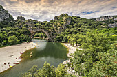 Pont d Arc , Pont d Arc, Gorges of Ardeche , Massif Central, Rhone-alpes,  France