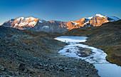 Aiguille Rousse at sunrise, Gran Paradiso national park, Alpi Graie