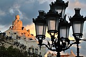 Mila house aka 'La Pedrera' 1906-1912. 261-265 Provença street. Architect Antoni Gaudí. Barcelona. Catalonia. Spain
