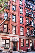 Two Tenement Apartment Buildings in East Greenwich Village, Manhattan, NYC, Formerly known as Alphabet City.