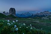 Cinque Torri, Falzarego Pass, Cortina d'Ampezzo, Dolomiti, Dolomites, Veneto, Italy, Cinque Torri