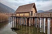 Europe, Italy, Veneto, Livelet, Revine Lago, Treviso, Archeopark Livelet archaeological park educational