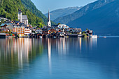 Europe, Austria, Salzkammergut, Gmunden district, Hallsatt, World Heritage lakeside town in the Austrian Alps