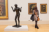 England, London, Tate Britain, Visitor and Artwork