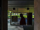 France, Aveyron, Rodez, Soulages museum, outdoors, weathering steel cladding ( RCR arquitectes)