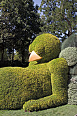 'France, North-Western France, Nantes, Botanical garden, the ''Sleeping Chick'' by Claude Ponti, during the ''Voyage a Nantes'' Festival, October 2014. Mandatory credit: Claude Ponti'