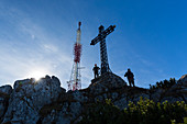 Emperor Franz Josef Cross on Mount Katrin, Bad Ischl, Salzkammergut, Upper Austria, Austria, Europe
