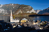 Lake Hallstatt and town Hallstatt, Upper Austria, Austria, Europe