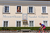 Mozart House, Birth place of mother of Wolfgang Amadeus Mozart, St. Gilgen, Wolfgangsee, Salzburg, Austria, Europe