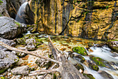 Zimitz waterfall close to Lake Grundlsee, Bad Aussee, Styria, Austria, Europe