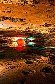 Mirror Lake in Altaussee Salt Mine, Bad Aussee, Styria, Austria, Europe