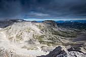 Mount Landfriedstein, seen from Mount Scheichenspitze, Dachstein area, Styria, Austria, Europe