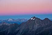Habicht, view from the knot, Stubai Alps, Stubaital, Tyrol, Austria, Europe
