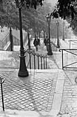 1960, streetscene, Montmartre, Paris, France