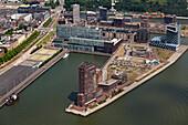 Aerial view of Schiehaven area, Rotterdam, Netherlands