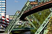 Schwebebahn elevated track, Wuppertal, North Rhine-Westphalia, Germany