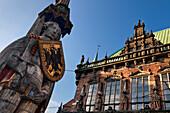 Bremen Roland statue by the Rathaus, Marktplatz, Bremen, Germany