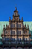 Detail of the Rathaus on Marktplatz, Bremen, Germany