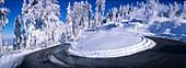 Corner, Mountainroad, Snow, Winter, Blauen, Black Forest, Germany