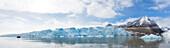 The glacier Monacobreen at Liefdefjorden, Spitzbergen, Svalbard