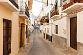 Calle Llana, alley, Alhama de Granada, Granada province, Andalucia, Spain, Europe