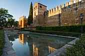 Murallas y Puerta de Almodóvar, city gate and historical town wall, moorish achitecture in the historic centre of Cordoba, UNESCO World Heritage, Cordoba, Andalucia, Spain, Europe