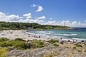 Beach Lilla Apelviken in Varberg, Halland, South Sweden, Sweden, Scandinavia, Northern Europe, Europe