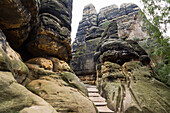 Schrammsteine, Rock formation, Saxon Switzerland National Park, Elbe Sandstone Mountains, Saxony, Germany, Europe