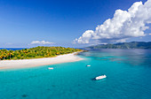 Sandy Spit Off An Uninhabited Islet Of The British Virgin Islands In The Caribbean