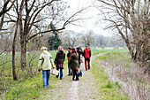 Wild Herb Walk at the River Amper, Germany, Europe