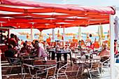 Bar Spiaggia Prima Punta, San Lorenzo al Mare, Liguria, Italy, Europe