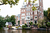 Nice Dutch Brick Architecture, House at Canal, Amsterdam, Netherlands, Europe