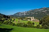 Village of Orient in Serra de Tramuntana, mountain range, Majorca, Mallorca, Balearic Islands, Spain