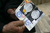 Uzbekistan, Bukhara, Jewish religious items in home