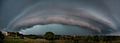 Shelf cloud, porto torres, sassari province, sardinia, italy, europe