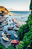 Neapel, malerische Aussicht von Marechiaro, Posillipo, Kampanien, Italien