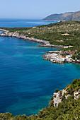 Küstenlandschaft, Dhermi, Albanische Riviera, Albanien