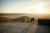 view from tomb chapel at the Wuerttemberg at Stuttgart and surrounding wine yards, Untertuerkheim, Stuttgart, Germany
