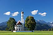 Pilgrim church St. Coloman, Schwangau, Allgau, Allgau Alps, Bavaria, Germany, Europe