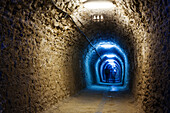 Tunnel of Salina Turda, well known landmark in Turda, Transylvania, Romania, Europe