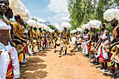 'A traditional part of a wedding ceremony with drums; Uganda'