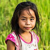 'Portrait of a young South East Asian girl; Luang Prabang Province, Laos'