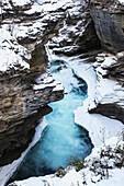 'Athabasca Falls in winter, Jasper National Park; Alberta, Canada'