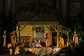 'Nativity scene in Mary Queen of the World Basilica; Montreal, Quebec, Canada'