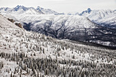 'Aerial view of the Ogilvie Mountains while flying along the Dempster Highway; Yukon, Canada'