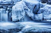 'Winter cascades; Enfield, Nova Scotia, Canada'