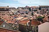 View of Old City Roofs in Dubrovnik, Croatia