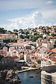 Cityscape and Small Harbor, Dubrovnik, Croatia